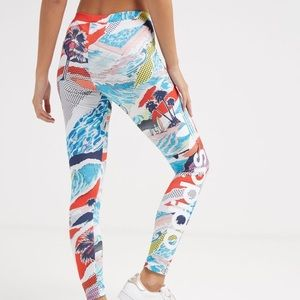 adidas Originals Graphic Print Linear Leggings XS